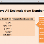 Eliminate Decimals in Excel