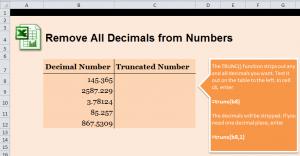 Eliminate Decimals in Excel