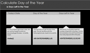 Calculate Days Left in the Year in Excel