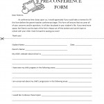 Parent Teacher Pre-Conference Form Template
