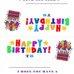 Student Birthday Tent Sign Template