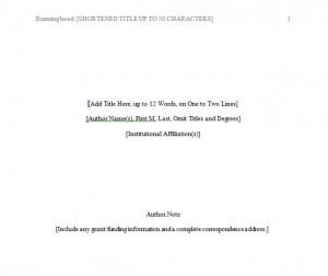 apa format of paper