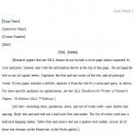 MLA Format Paper Template