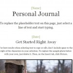 Personal Journey Journal Template