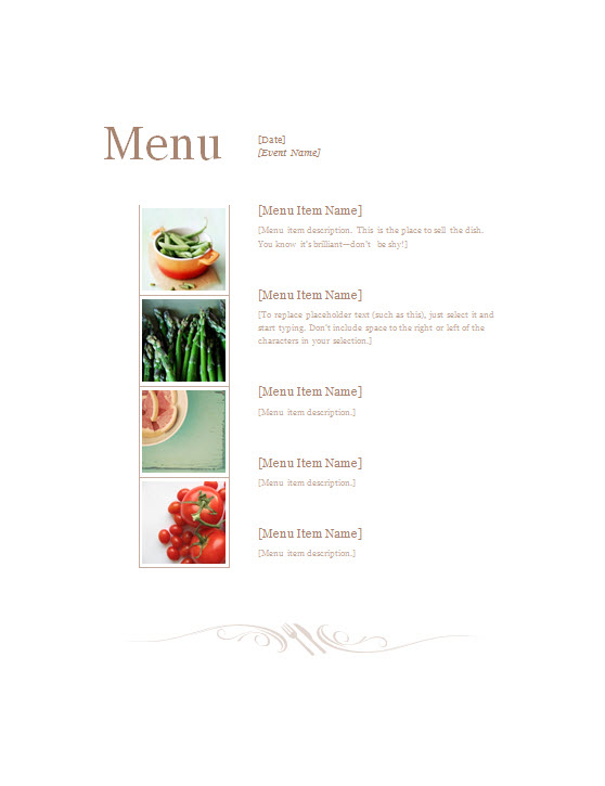 Restaurant Menu Template  Template Haven