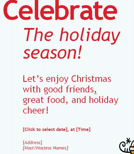 Holiday Celebration Invitation