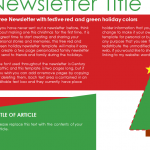 Holiday Newsletter Sheet