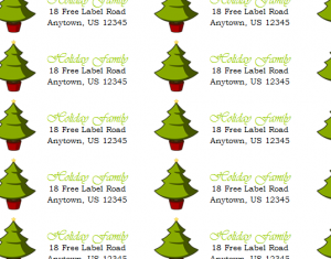 Return Labels Are Made Fun Again! The Holiday Return Address Labels Template  Is Designed To Add A Touch Of Holiday Joy To Any Gift You Might Be Mailing  Out ...  Free Return Address Labels Template