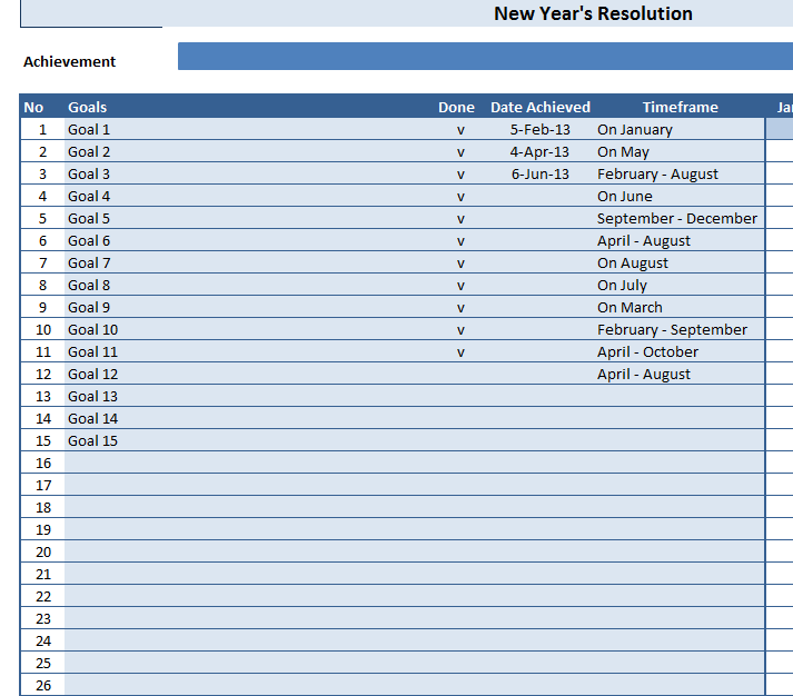 New Year's Resolution Sheet » Template Haven