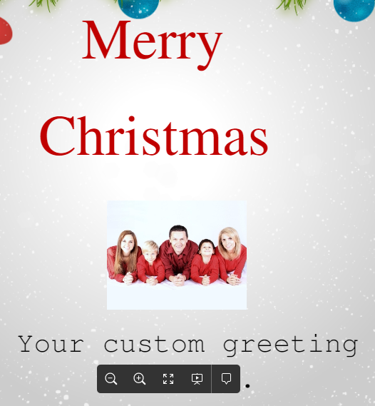 Simple Holiday Greeting Card Template