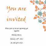 Simple Holiday Invitation Sheet
