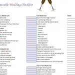 Customizable Wedding Checklist