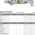 Expense Budget Sheet Template