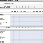 Household Budget Sheet