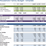 Household Family Budget Template