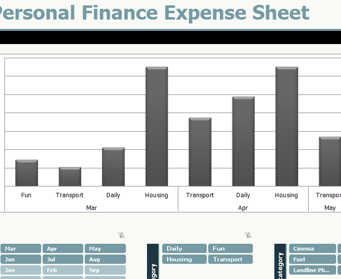 Personal Finance Expense Sheet