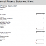 Personal Finance Statement Sheet
