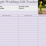 Simple Wedding Gift Tracker