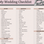 Wedding Essentials Checklist Template
