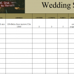 Wedding Seat Tracker