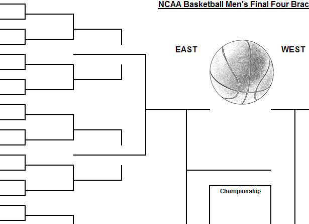Simple March Madness Bracket Template