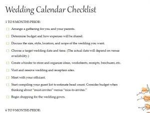 wedding calendar checklist thevillas co