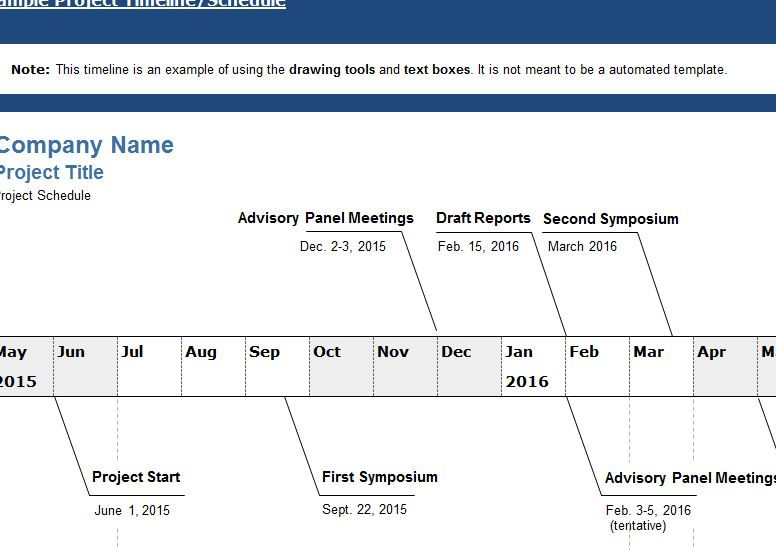 Company Project Timeline