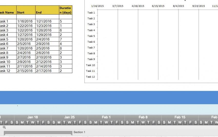 Complete Timeline Sheet