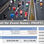 Event Budget Sheet