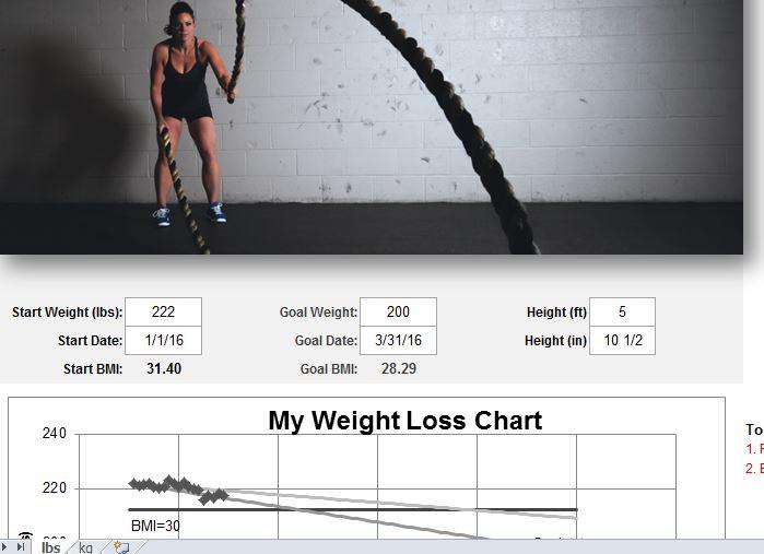 Workout Chart Template