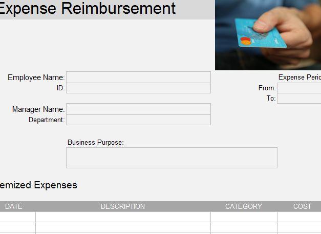 Business Reimbursement Template