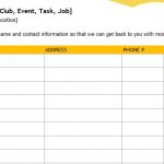 Event Sign-Up Sheet