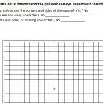 AMSLER Grid Eye Test