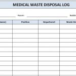 Medical Waste Disposal Log