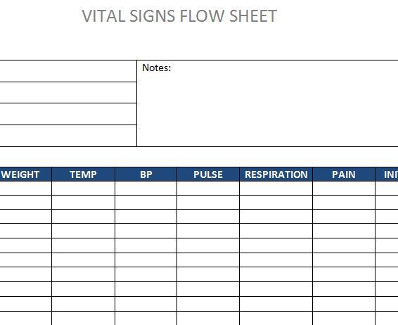 Vital Signs Flow Sheet 187 Template Haven border=