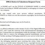 DMCA Notice Template