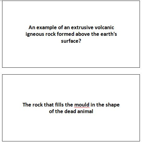 Geology Flash Cards