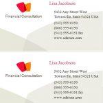 Business Card Template Sheet