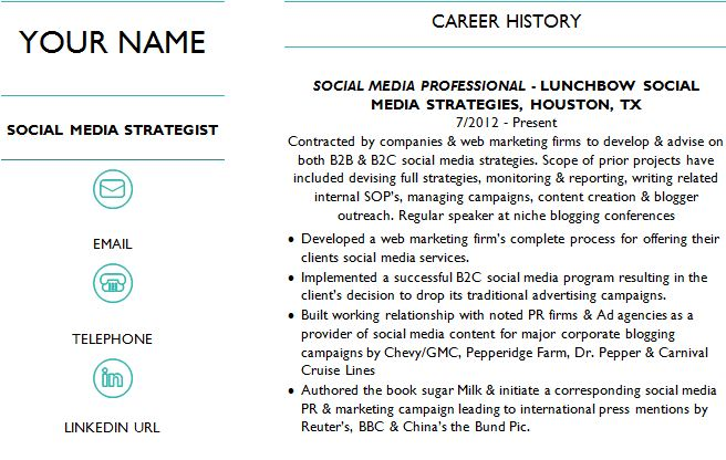 Social Media Strategist Resume