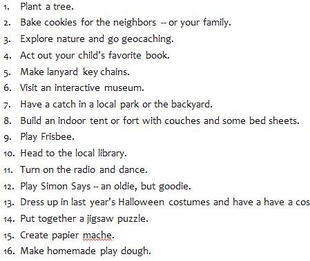101 Activities for Bored Children