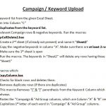 AdWords Campaign Upload Steps