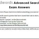 Google Adwords Advanced Search Advertising Exam Answers