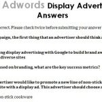 Google AdWords Display Advertising Exam Answers