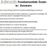 Google AdWords Fundamentals Test with Answers