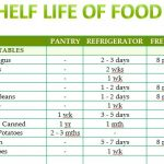 Shelf Life of Food Template