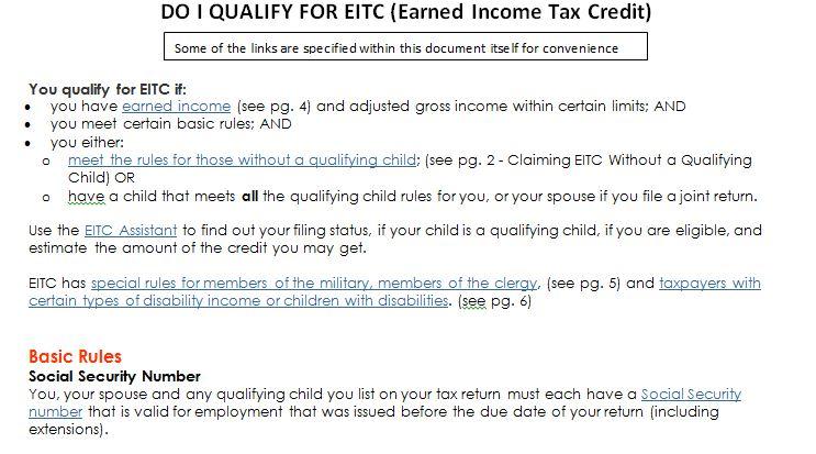 EITC Qualification Template