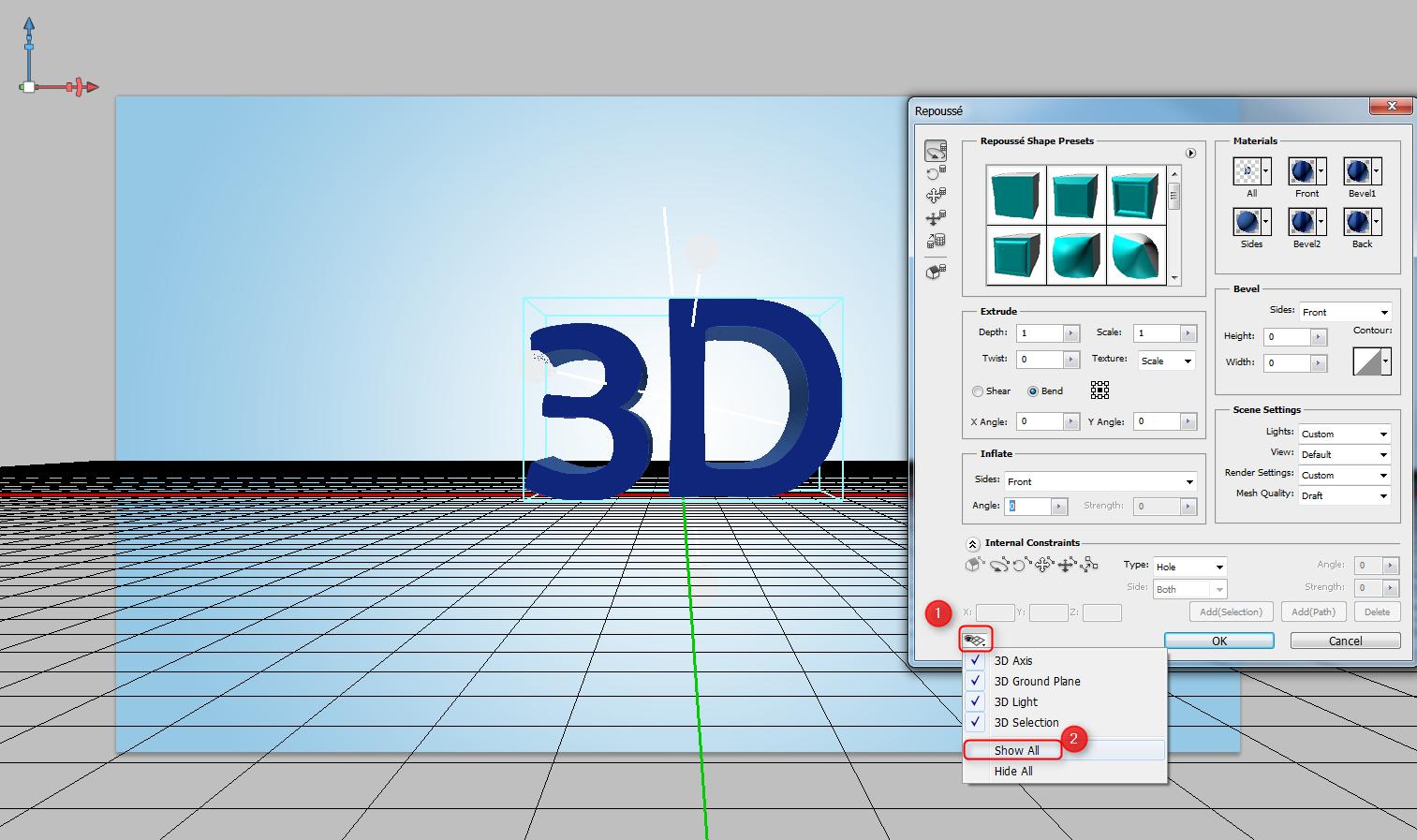 3D Light & 3D Selection
