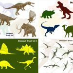 Dinosaur Photoshop Brush Templates