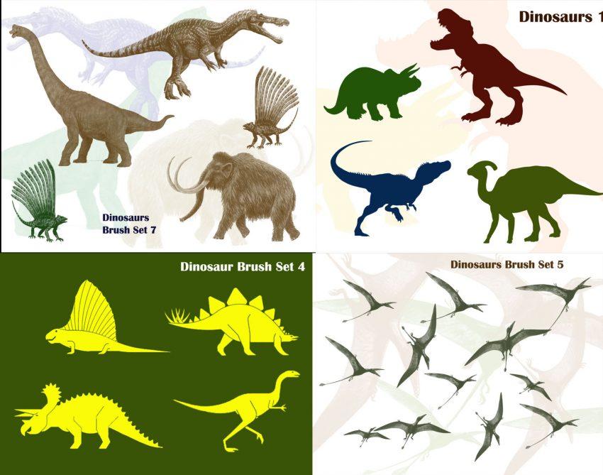 Dinosaur Photoshop Brush Templates