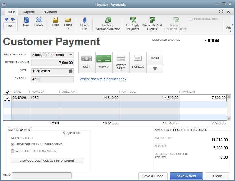 HOW TO RECEIVE PAYMENTS IN QUICKBOOKS